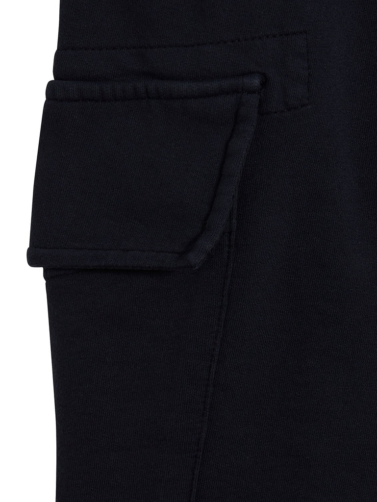 Garment Dyed Light Fleece Lens Shorts in Total Eclipse