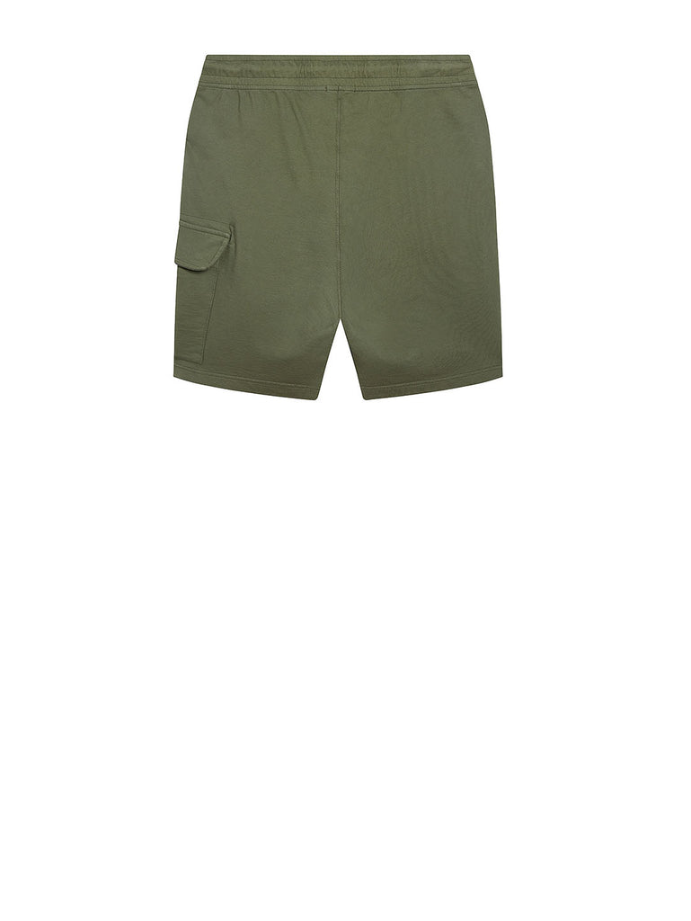 Garment Dyed Light Fleece Lens Shorts in Deep Lychen Green