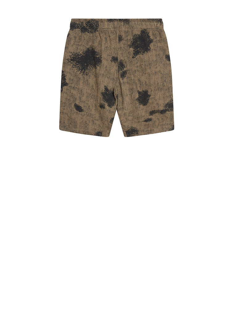 Light Fleece Camo Sweat Shorts in Dusty Olive