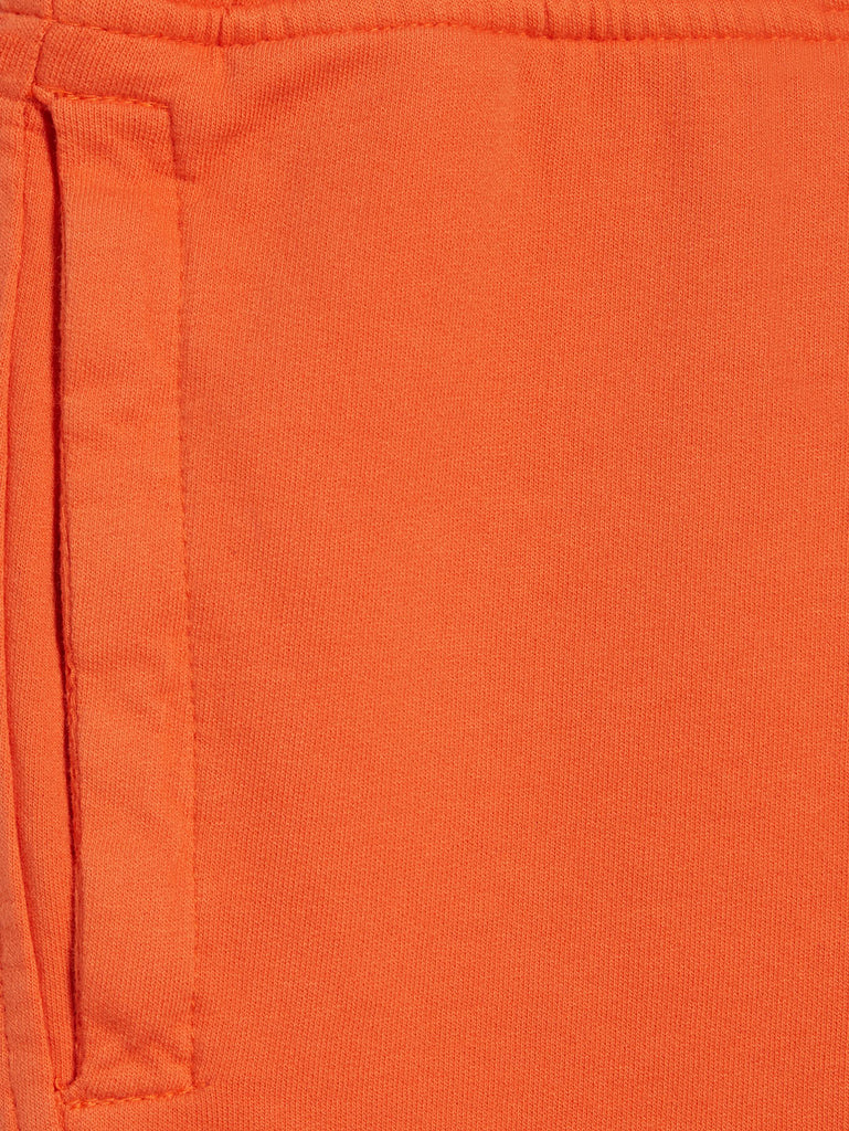 Garment Dyed Light Fleece Lens Shorts in Spicy Orange