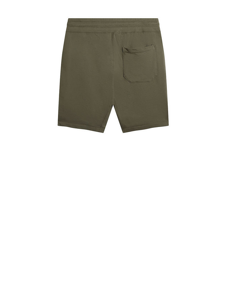 Garment Dyed Light Fleece Track Shorts in Brindle Grey