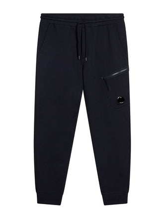 Diagonal Fleece Lens Zip Pocket Sweatpants in Total Eclipse