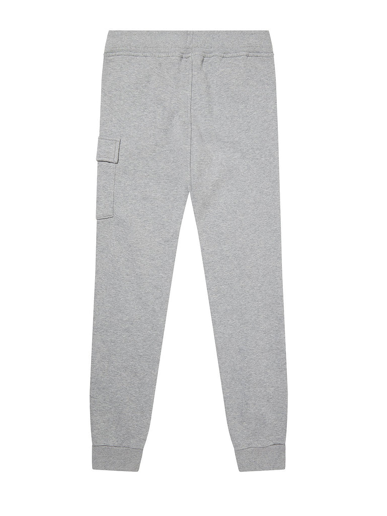 Undersixteen Basic Fleece Lens Sweatpants in Grey Melange