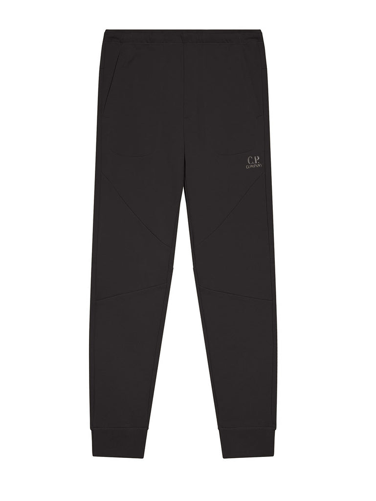 Diagonal Raised Fleece Logo Sweatpants in Black
