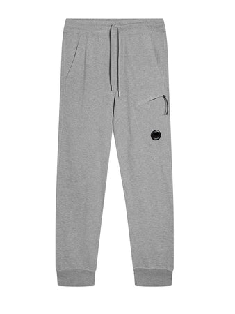 Garment Dyed Light Fleece Lens Pocket Sweatpants in Grey Melange