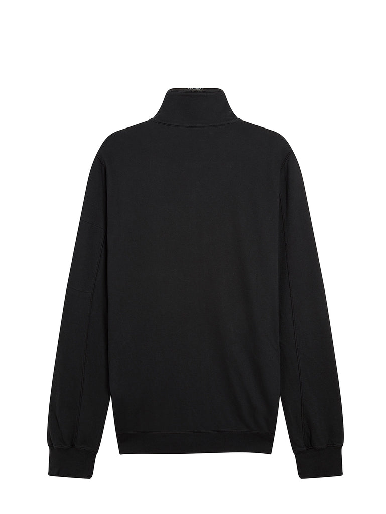 Garment Dyed Light Fleece Sweatshirt in Black