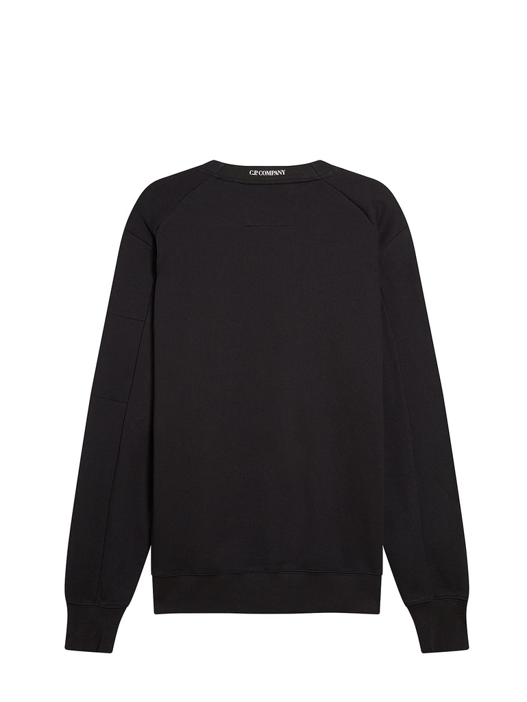Diagonal Fleece Lens Sweatshirt in Black