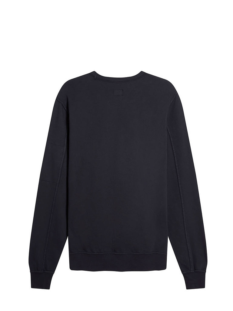 Garment Dyed Light Fleece Lens Crew Sweatshirt in Total Eclipse