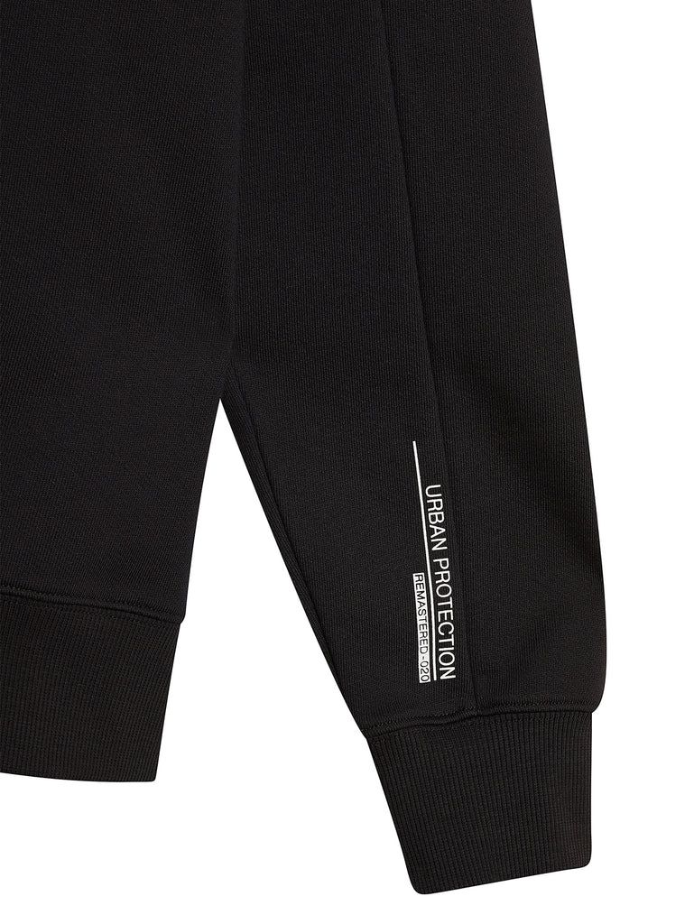 Diagonal Raised Fleece Urban Protection Series Logo Sweat in Black