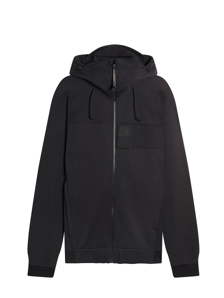 Diagonal Raised Fleece Urban Protection Series Logo Hoodie in Black