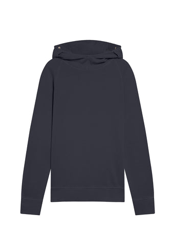 Old Chic 30/1 Fleece Goggle Hoodie in Blue Fog