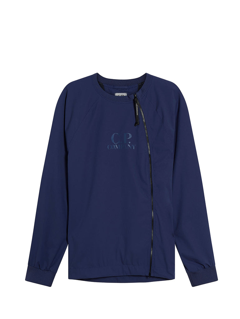 Pro-Tek Asymmetrical Zip Sweatshirt in Blueprint