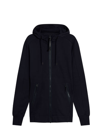 Diagonal Fleece Zip Goggle Sweatshirt in Total Eclipse