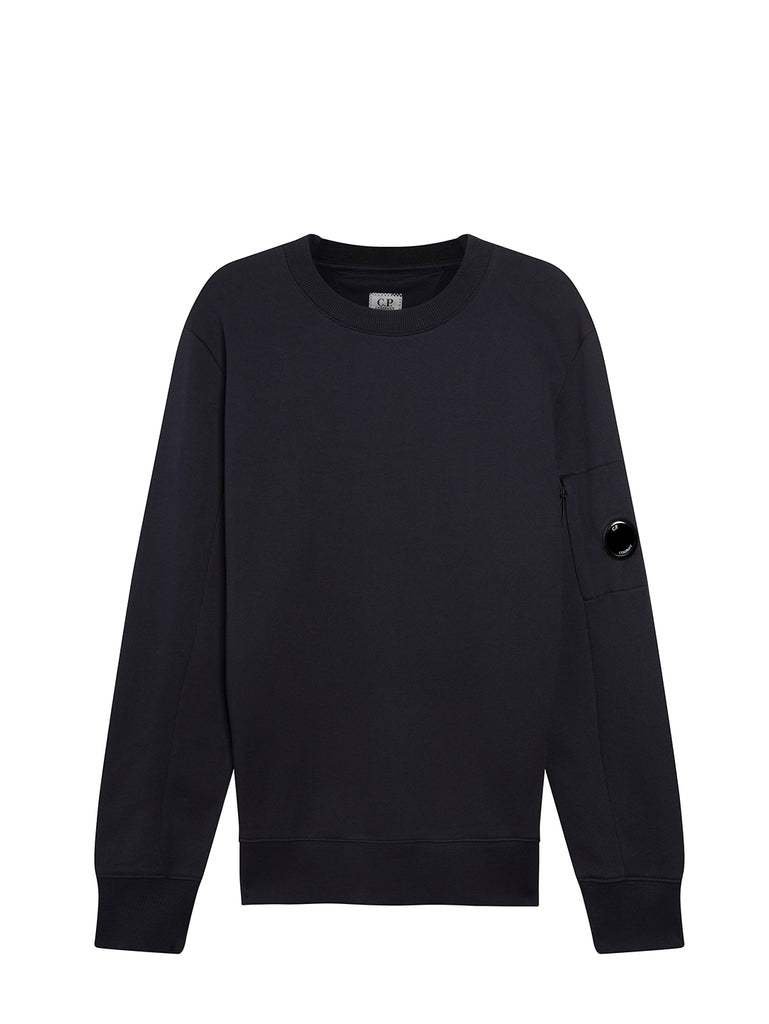 Diagonal Fleece Lens Sweatshirt in Total Eclipse