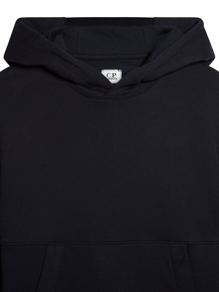 Diagonal Fleece Hooded Lens Sweatshirt in Total Eclipse
