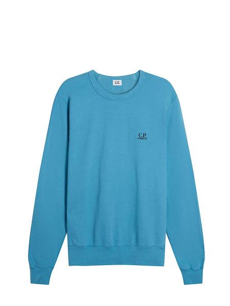 Logo Print Crew Neck Sweatshirt in Bluejay
