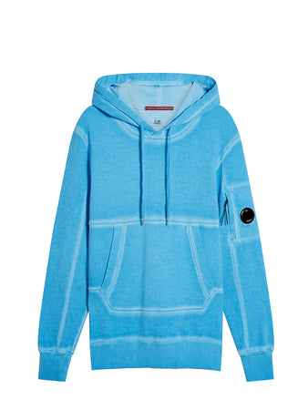 I.C.E. Cotton Fleece Hooded Lens Sweatshirt in Riviera
