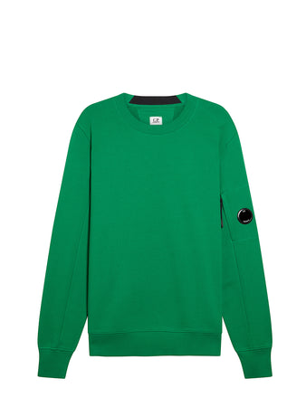 Diagonal Fleece Lens Sweatshirt in Jelly Bean