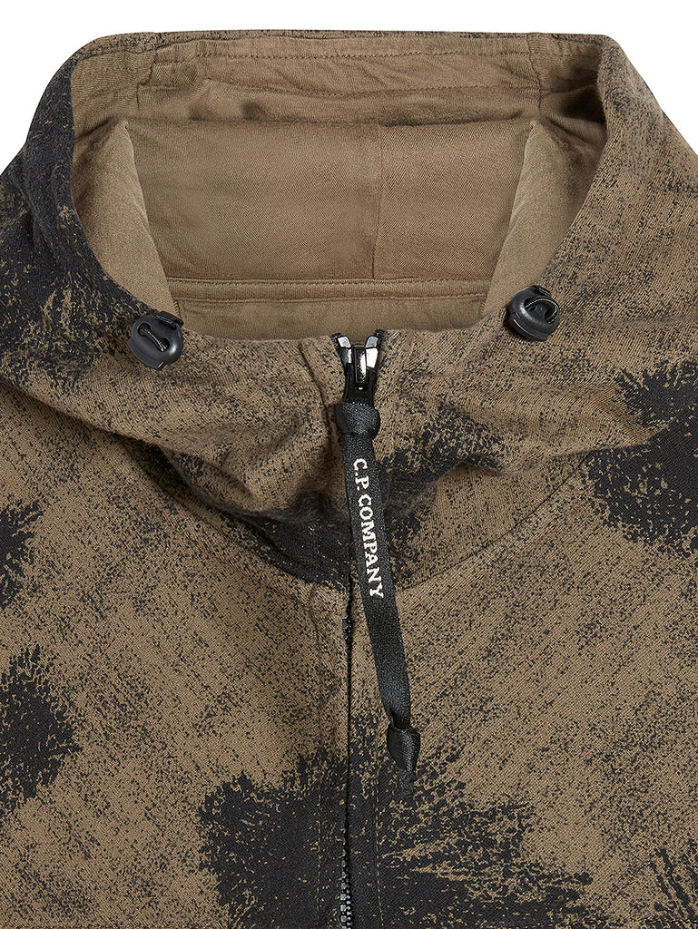 Light Fleece Camo Diamond Logo Hoodie in Dusty Olive