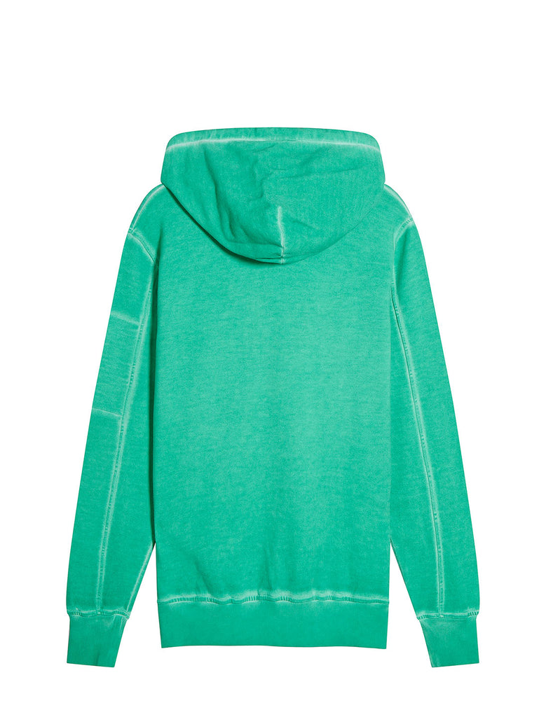 I.C.E. Cotton Fleece Hooded Lens Sweatshirt in Jelly Bean