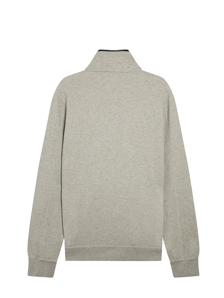 Garment Dyed Light Fleece Sweatshirt in Grey Melange