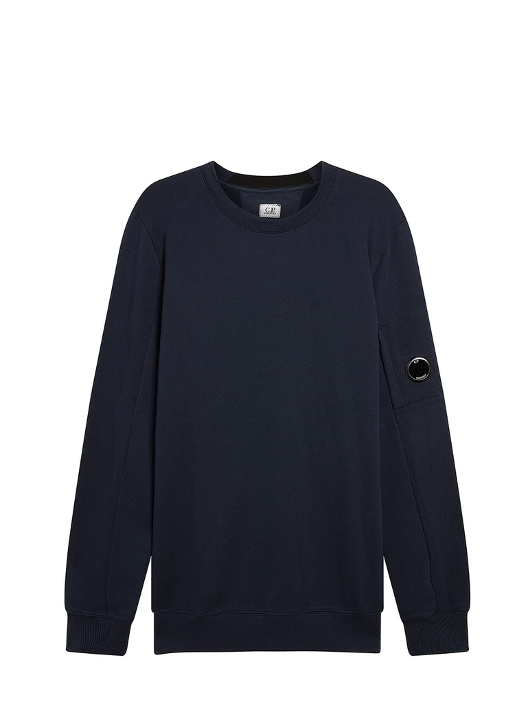 Diagonal Raised Fleece Lens Crew Sweatshirt in Total Eclipse