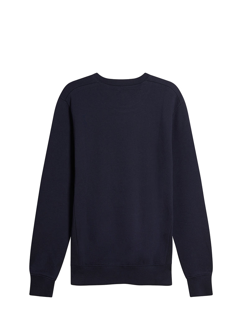 Diagonal Raised Fleece Chest Logo Sweater in Total Eclipse