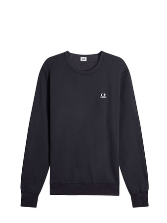 Logo Print Crew Neck Sweatshirt in Total Eclipse