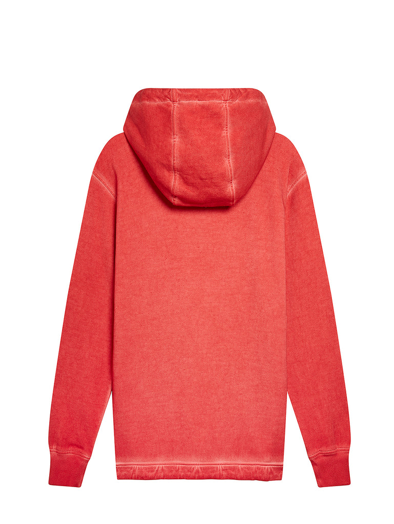 Old Dyed Emerized Fleece Sweatshirt in Pureed Pumpkin