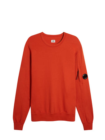 Garment Dyed Light Fleece Lens Crew Sweatshirt in Pureed Pumpkin