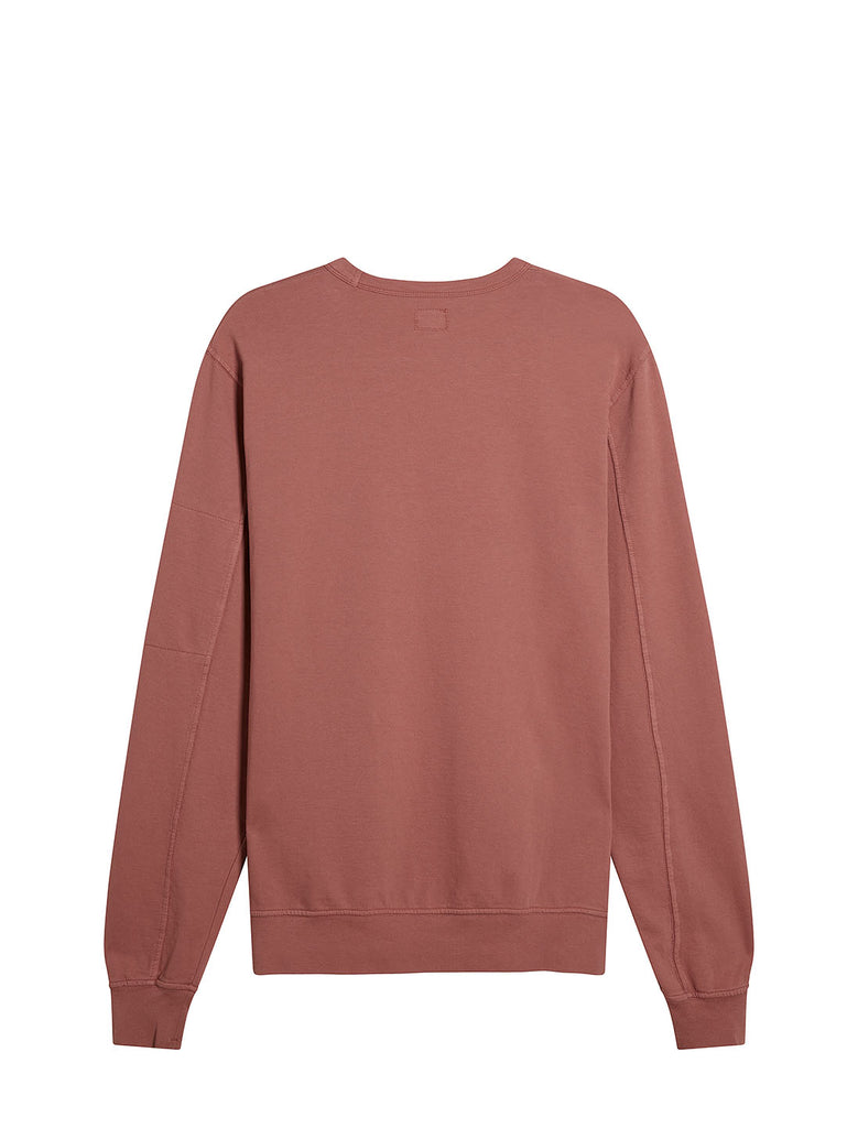 Garment Dyed Light Fleece Lens Crew Sweatshirt in Roan Rouge