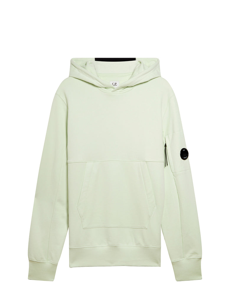 Diagonal Fleece Hooded Lens Sweatshirt in Frost