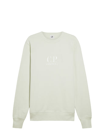 Diagonal Fleece Logo Sweatshirt in Frost