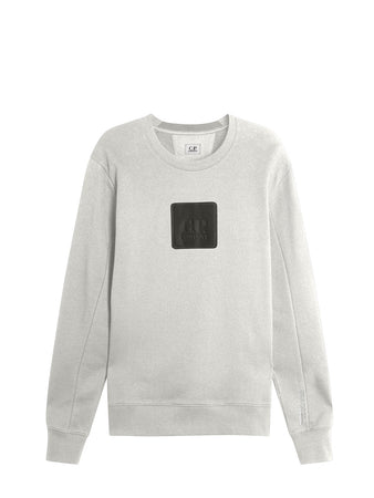 Diagonal Raised Fleece Urban Protection Series Logo Sweat in Gauze White
