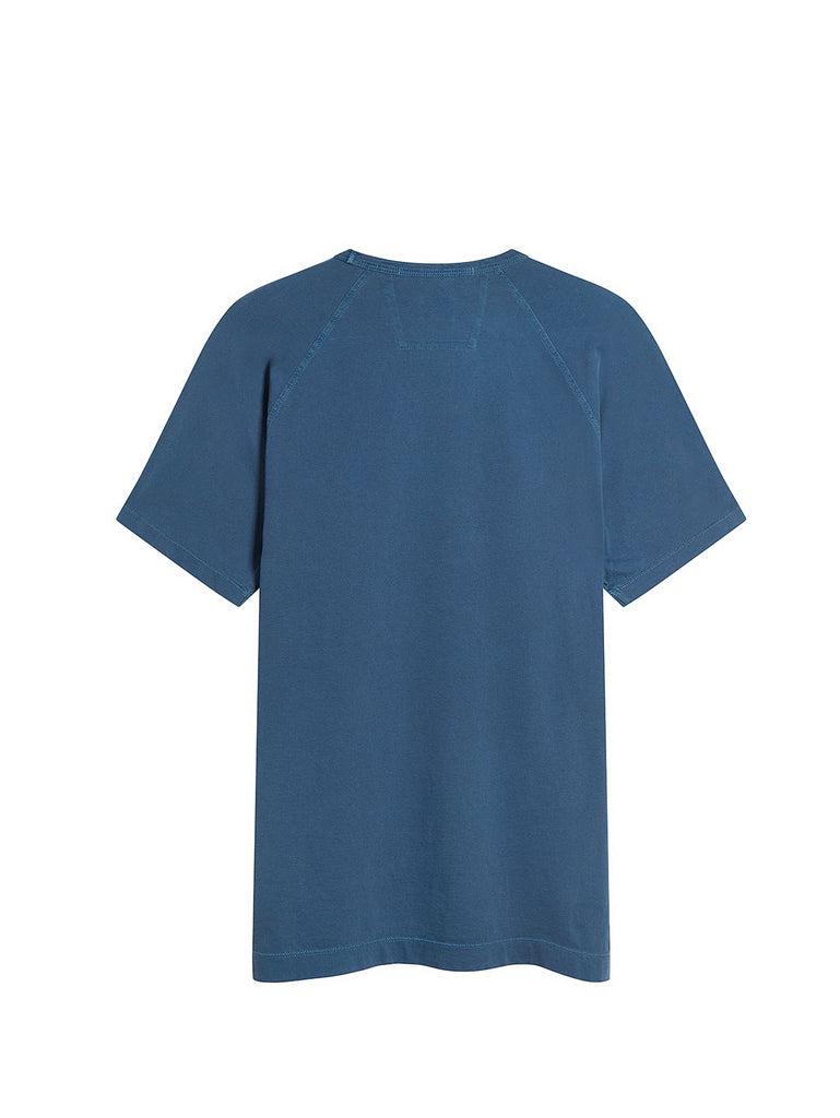 Re-Colour Jersey Short Sleeve T-Shirt in Dark Denim