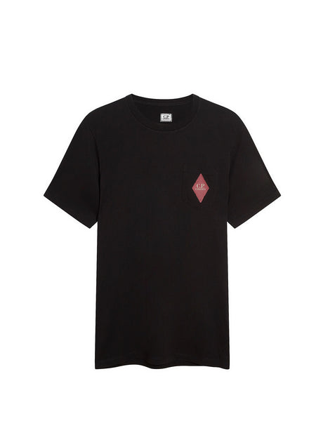Jersey 30/1 Heritage Patch Pocket T-Shirt in Black