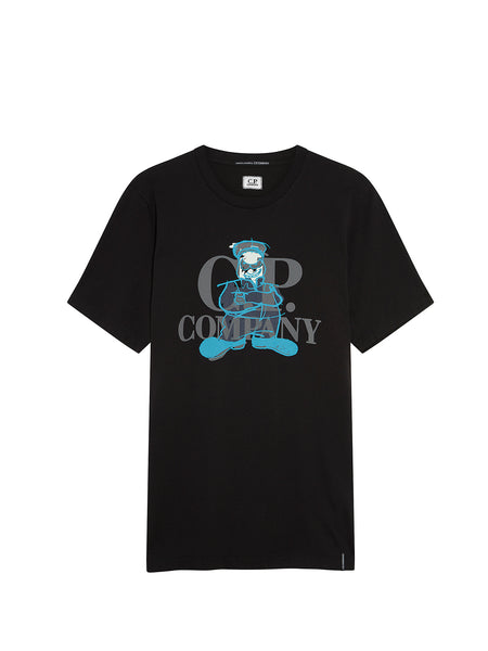 Jersey 20/1 Comics and Cars Logo T-Shirt in Black