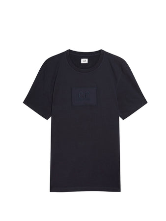 Jersey 30/1 Label Logo T-Shirt in Total Eclipse