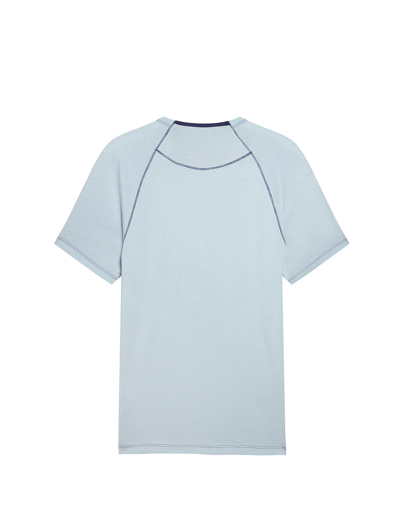 Jersey 30/1 Heritage T-Shirt in Halogen Blue