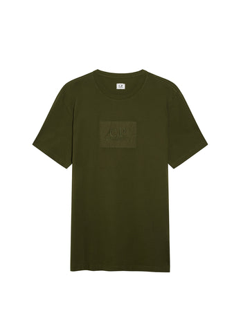 Jersey 30/1 Label Logo T-Shirt in Forest Night