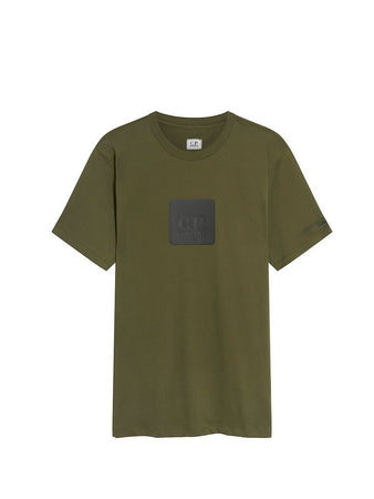 Jersey 30/1 Logo Plaque T-Shirt in Ivy Green