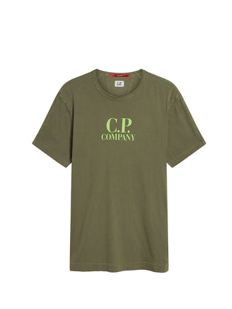 Re-Colour Jersey Crew T-Shirt in Dusty Olive