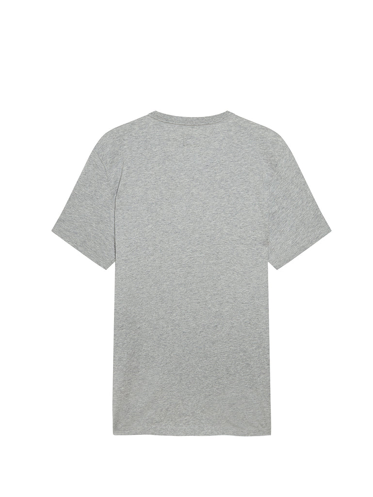 Jersey 30/1 020 Small Spray T-Shirt in Grey Melange