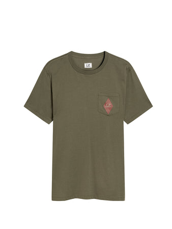 Jersey 30/1 Heritage Patch Pocket T-Shirt in Dusty Olive