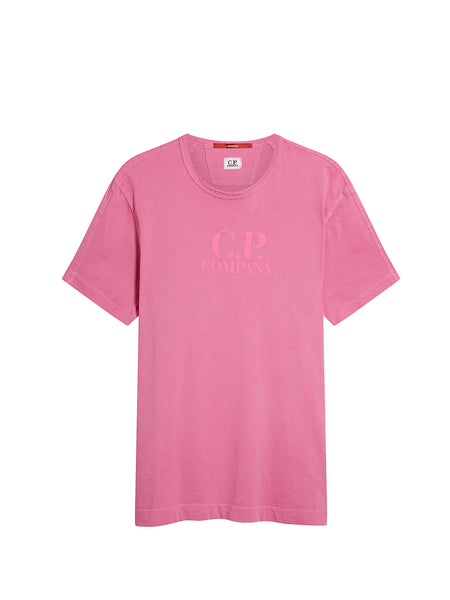 Re-Colour Jersey Crew T-Shirt in Pink Fluo