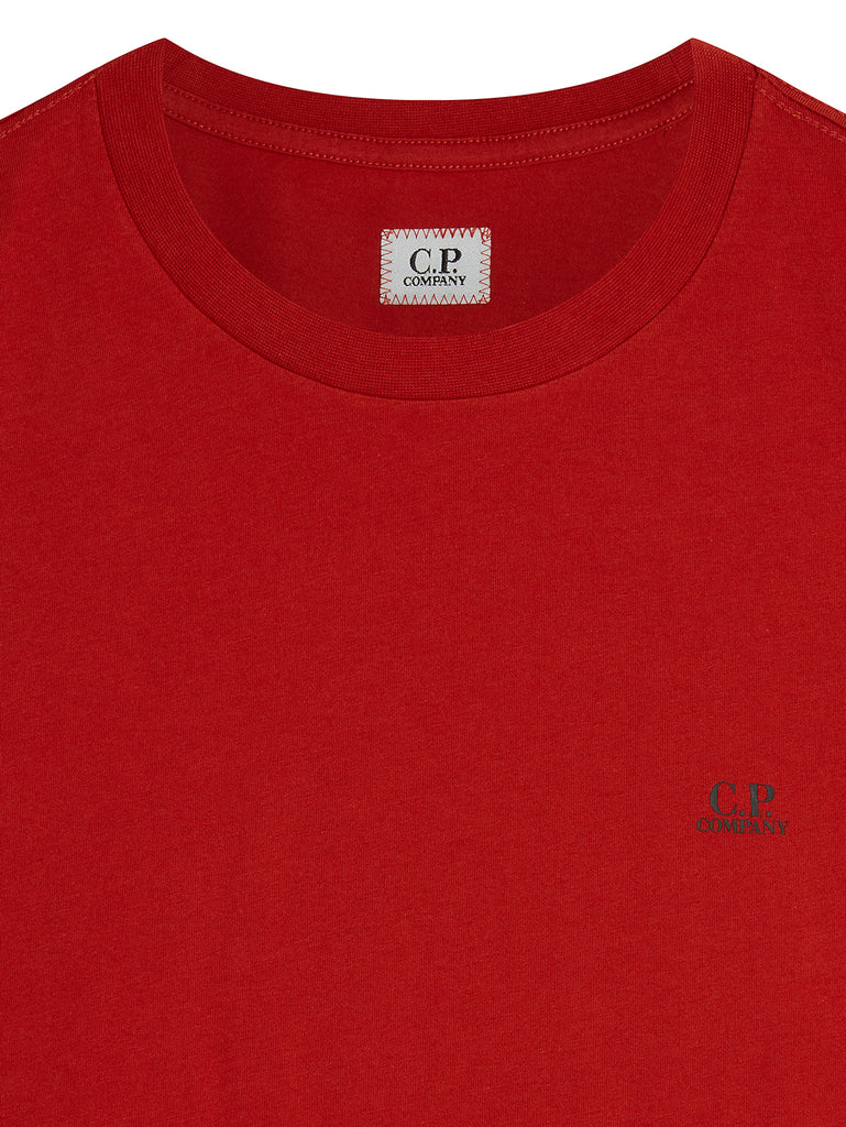 Jersey 30/1 Mini Chest Logo T-Shirt in Pompeian Red