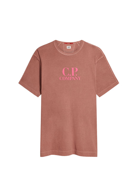 Re-Colour Jersey Crew T-Shirt in Roan Rouge