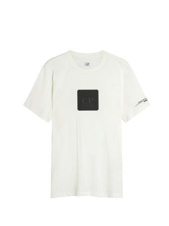 Jersey 30/1 Logo Plaque T-Shirt in Gauze White