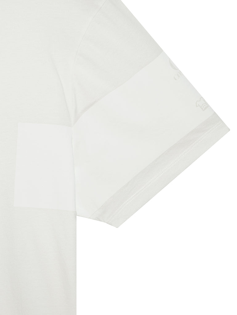 Jersey 30/1 Instruction T-Shirt in Gauze White