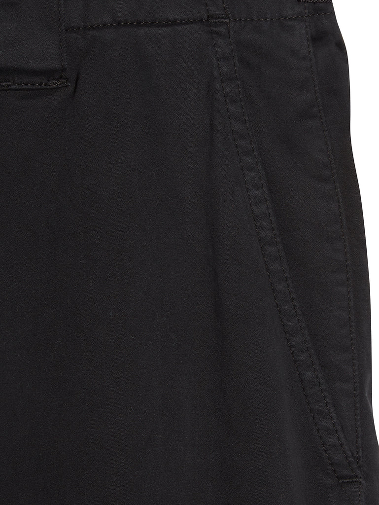 Garment Dyed Sateen Ergonomic Pants in Black
